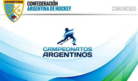 Torneos: POSTERGACIÓN DE CAMPEONATOS ARGENTINOS ORGANIZADOS POR LA CAH