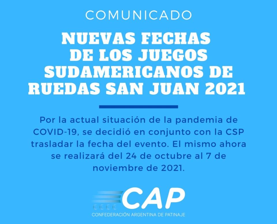 Juegos Sudamericanos de Ruedas San Juan 2021: SE POSTERGÓ EL INICIO DE LA COMPETENCIA
